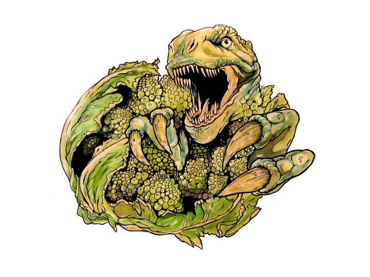 Brockaflowersaurus-rex And The Blueberry Biscuits